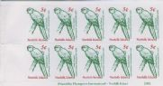 NFI SG747a Green Parrot local booklet stamp pane of 10